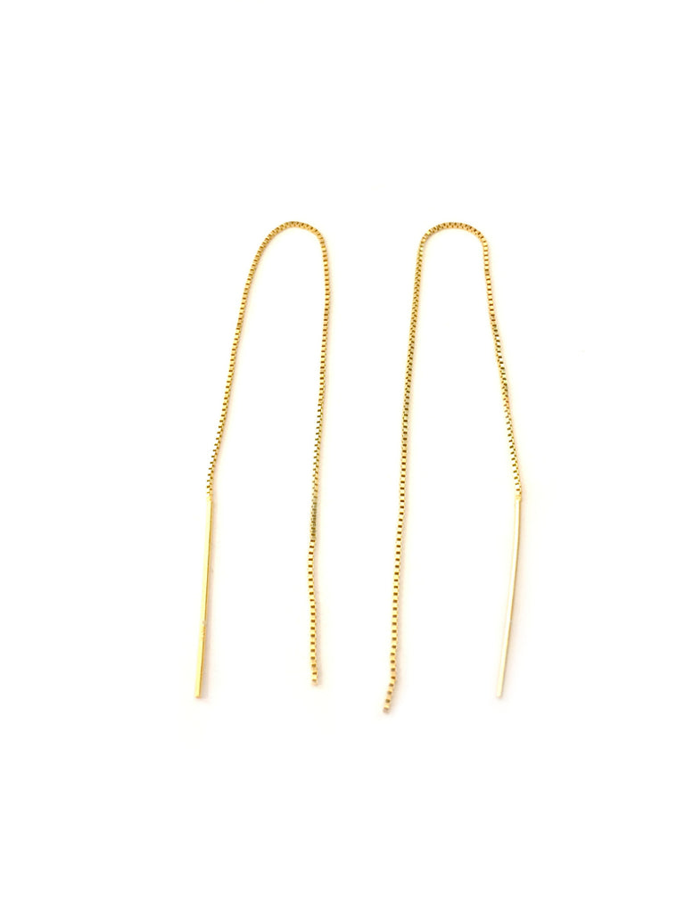 Chain Ear Threads | Sterling Silver Gold Vermeil Earrings | Light Years