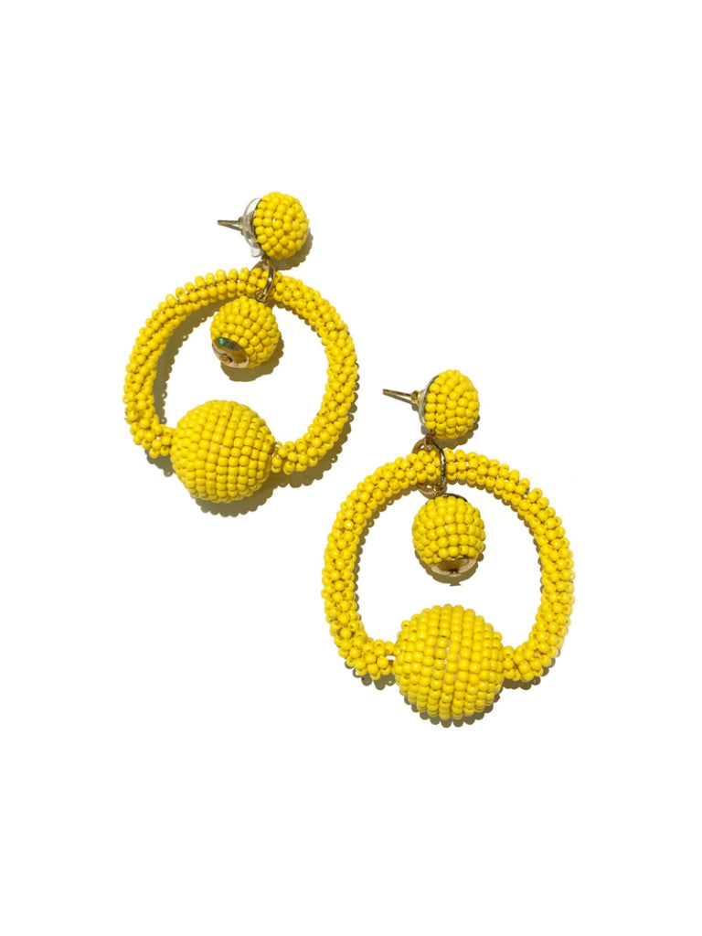 Sunny Day Statement Earrings | Blue or Yellow Post Dangles | Light Years