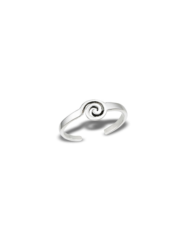 Spiral Adjustable Toe Ring | Sterling Silver | Light Years Jewelry