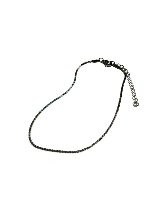 Serpentine Chain Anklet | Stainless Steel | Light Years Jewelry