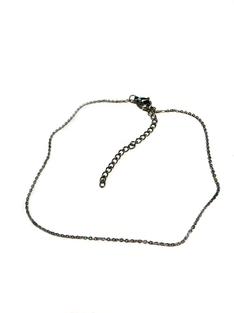 Simple Chain Anklet | Stainless Steel Bracelet | Light Years Jewelry