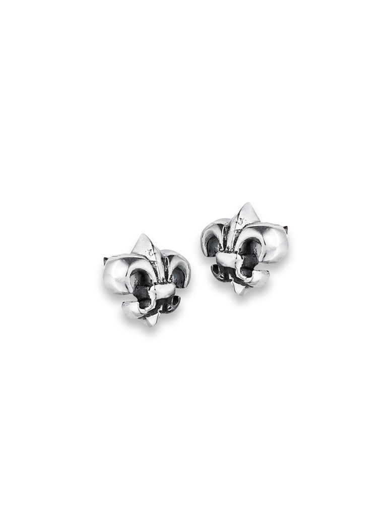 Fleur-de-lis Posts | Sterling Silver Stud Earrings | Light Years Jewelry