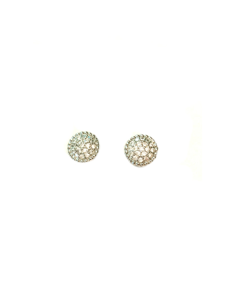 Pave CZ Stud Earrings | Sterling Silver Gold Vermeil Posts | Light Years