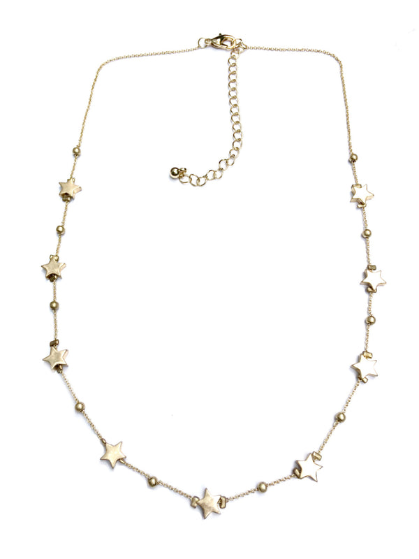 Spaced Out Star Necklace | Gold Silver Fashion Chain | Light Years