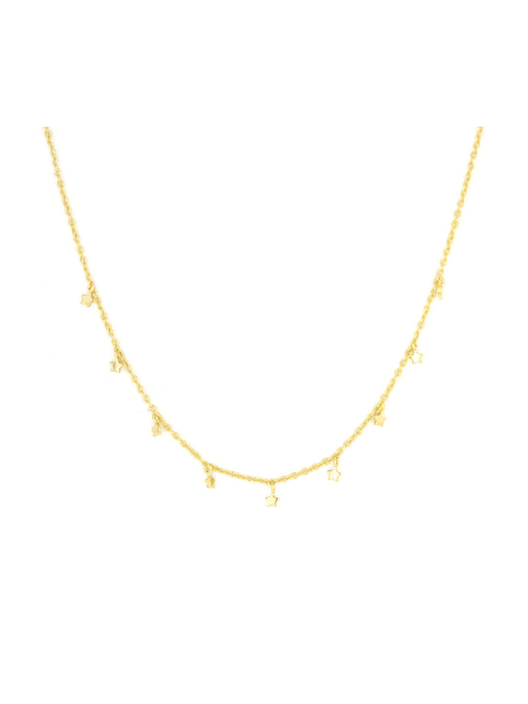 Tiny Star Dangle Choker | Gold or Silver Plated Necklace | Light Years
