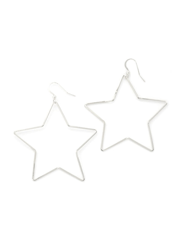 Star Statement Earrings | Gold or Silver Celestial Dangles | Light Years