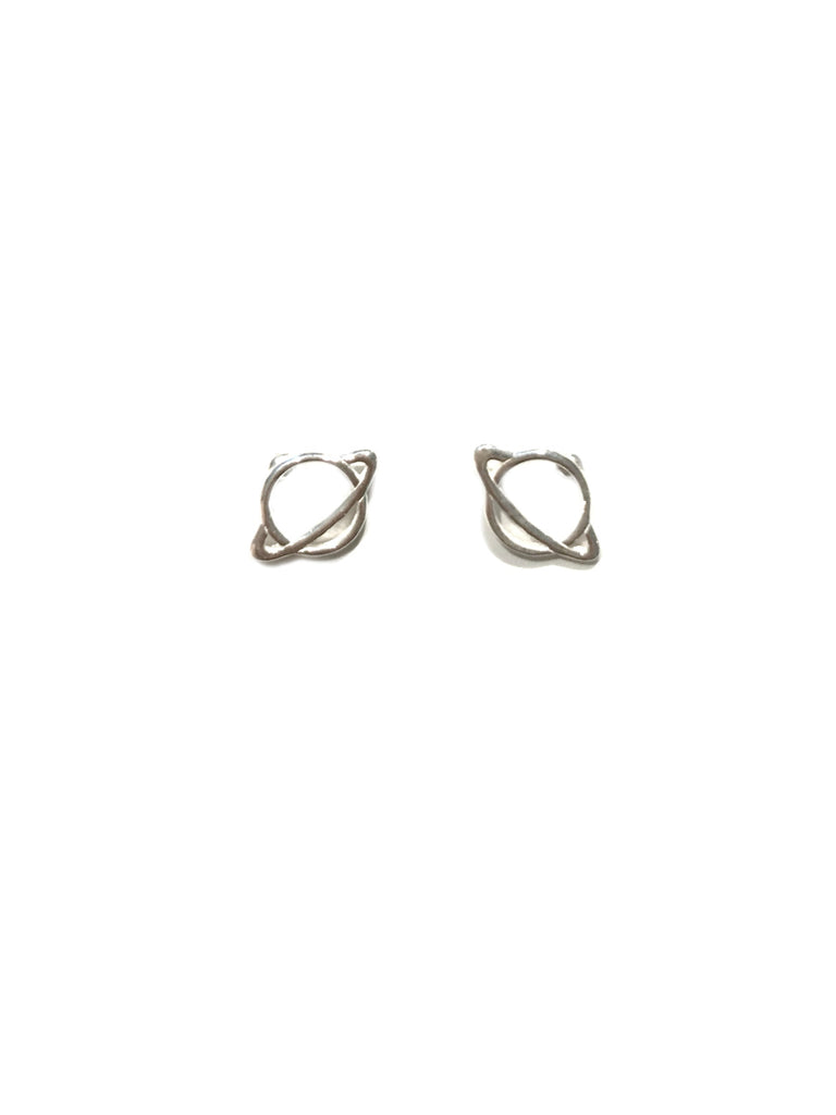 Saturn Planet Posts | Sterling Silver Studs Earrings | Light Years