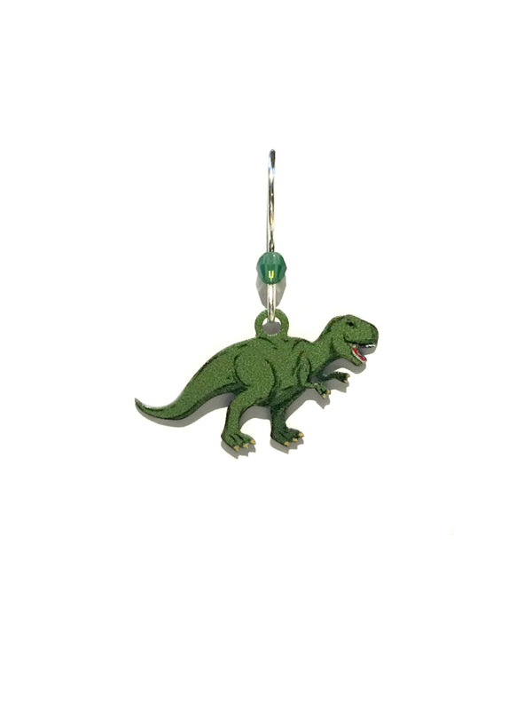 T Rex Dinosaur Earrings by Sienna Sky | Sterling Silver Dangles | Light Years