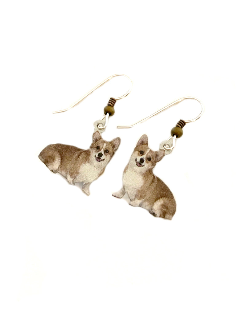 Corgi Dangles by Sienna Sky | Sterling Silver Earrings | Light Years