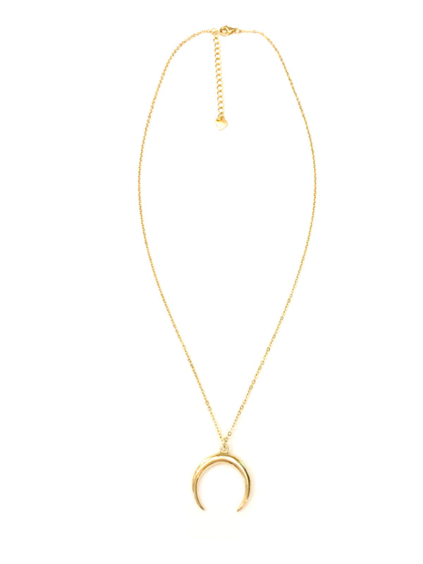 Gold Horn Moon Necklace | Vermeil Chain Pendant | Light Years Jewelry