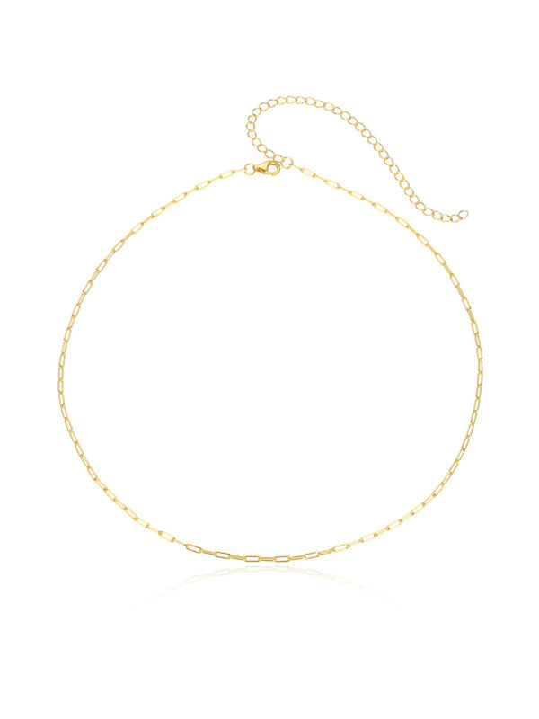Chain Link Choker Necklace | Gold Vermeil 14-17"