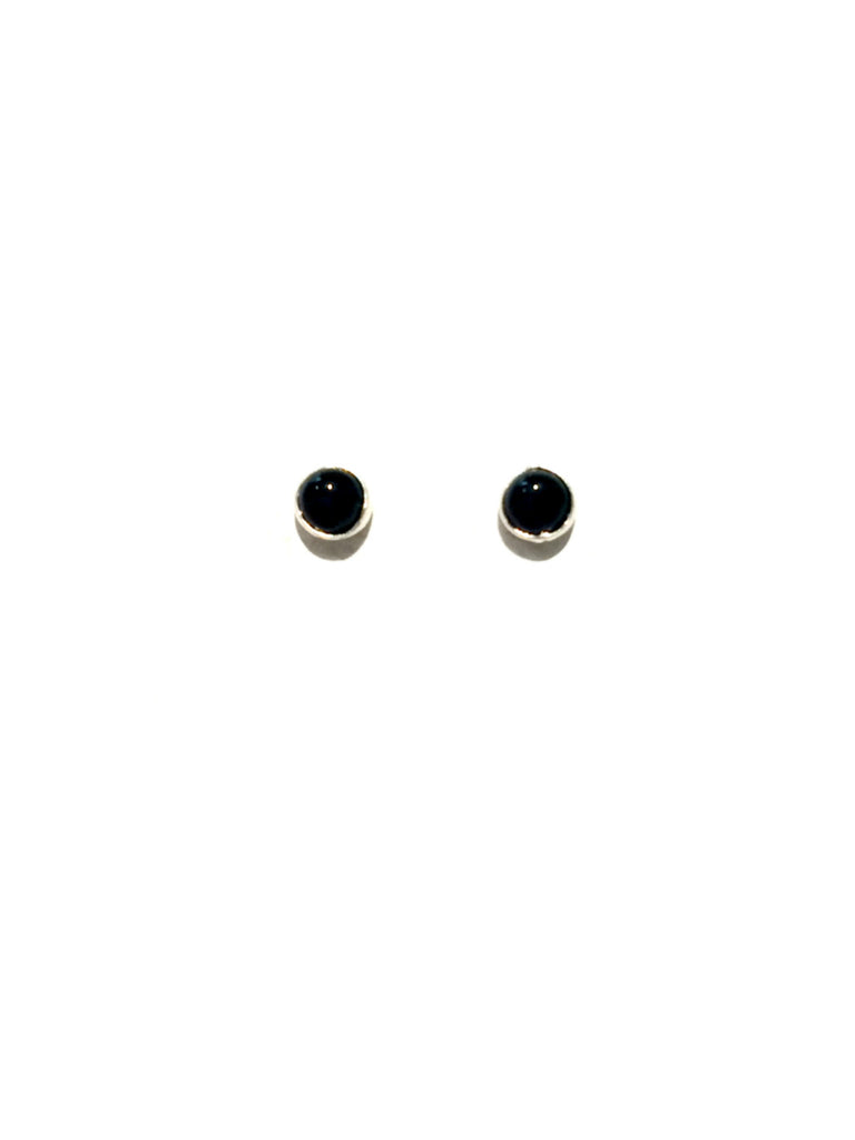 3mm Stone Studs | Black Onyx | Sterling Silver Posts Earrings | Light Years Jewelry