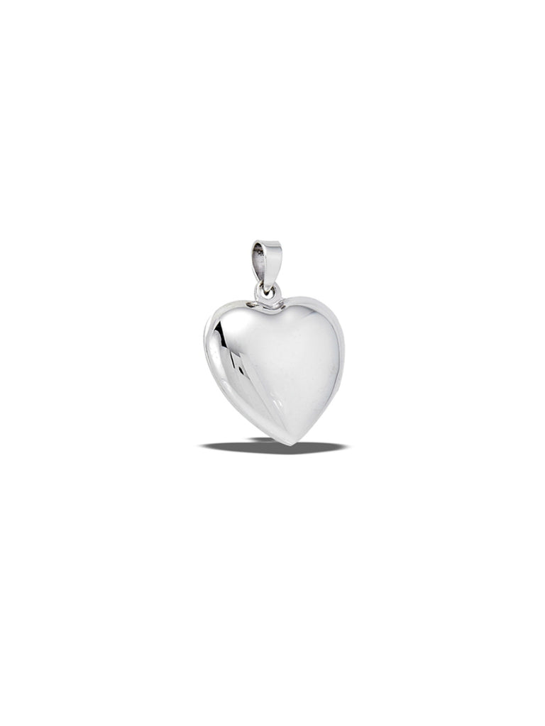 Polished Heart Locket Pendant | Sterling Silver | Light Years Jewelry