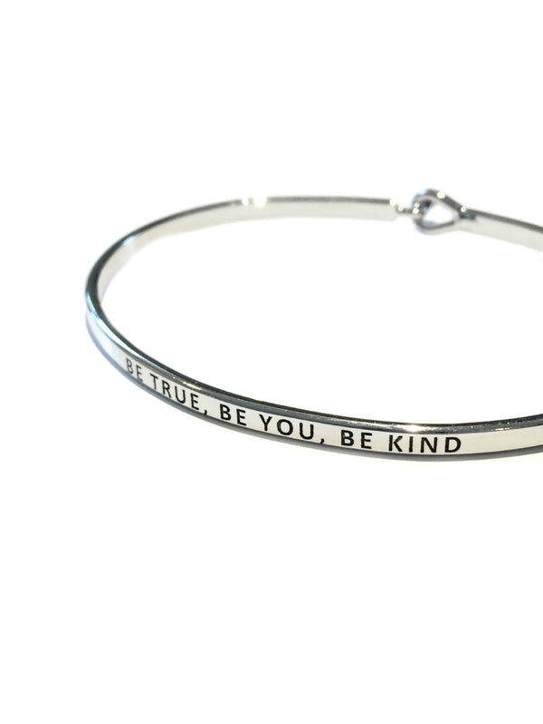 Be True, Be You, Be Kind Stamped Bracelet | Gold Silver Cuff | Light Years