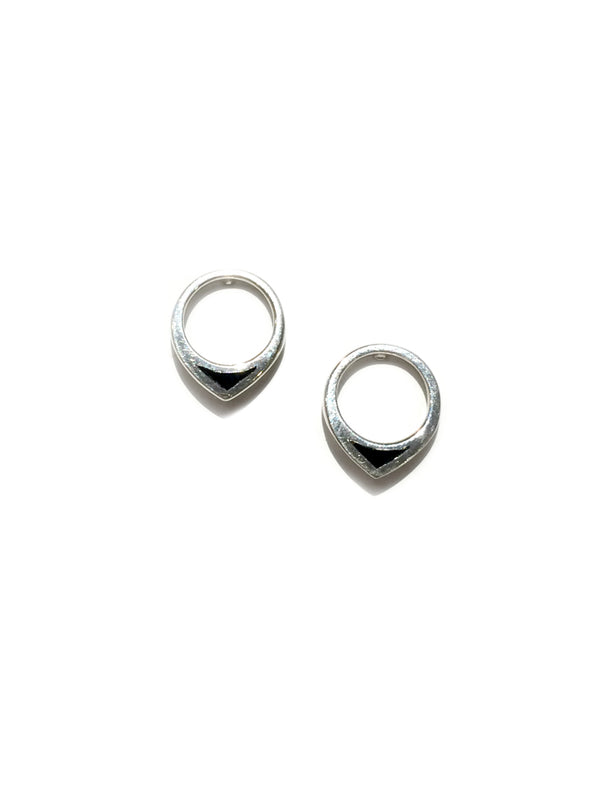 Pointed Onyx Posts | Sterling Silver Studs Earrings | Light Years