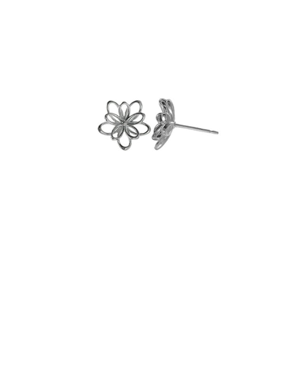 Wire Flower Posts | Sterling Silver Stud Earrings | Light Years Jewelry