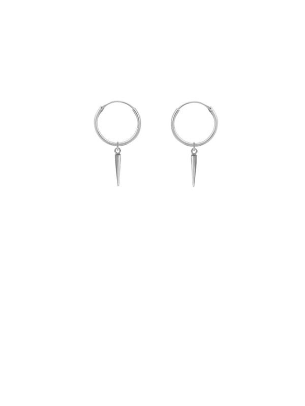 Spike Dangle Hoops | Sterling Silver Earrings | Light Years Jewelry