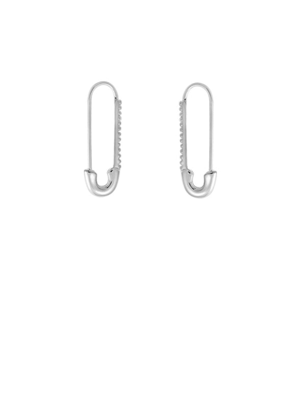 Safety Pin Earrings | Sterling Silver Dangles Hoops | Light Years