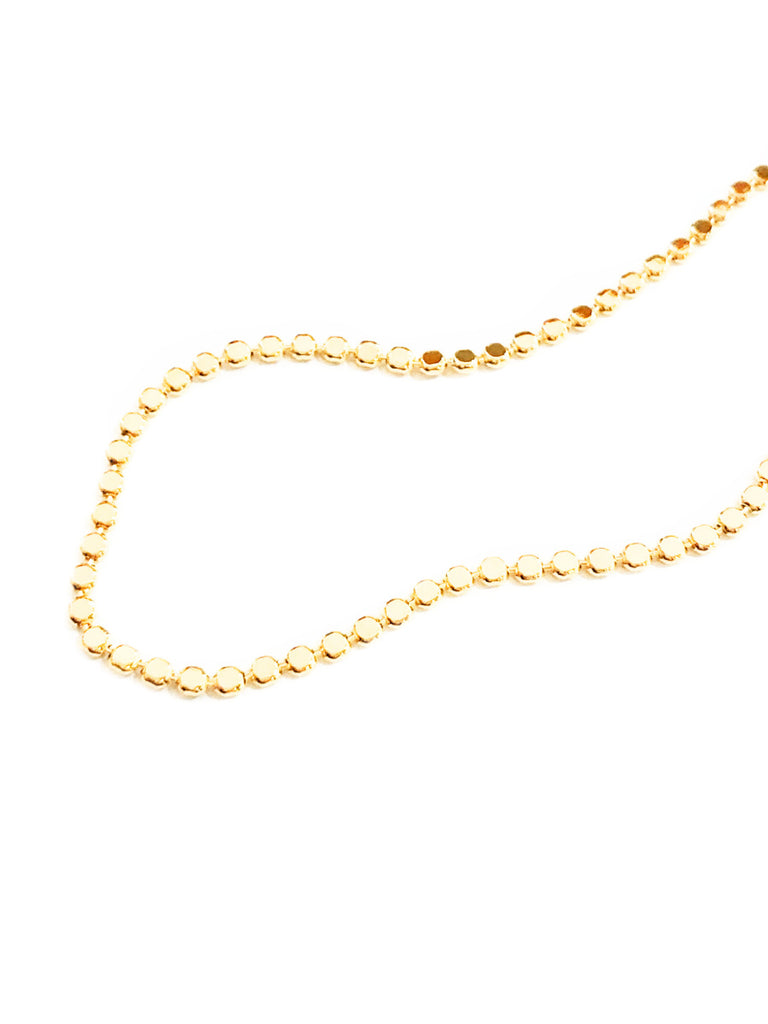 Flat Ball Chain Anklet | Gold Plated Fashion Bracelet | Light Years