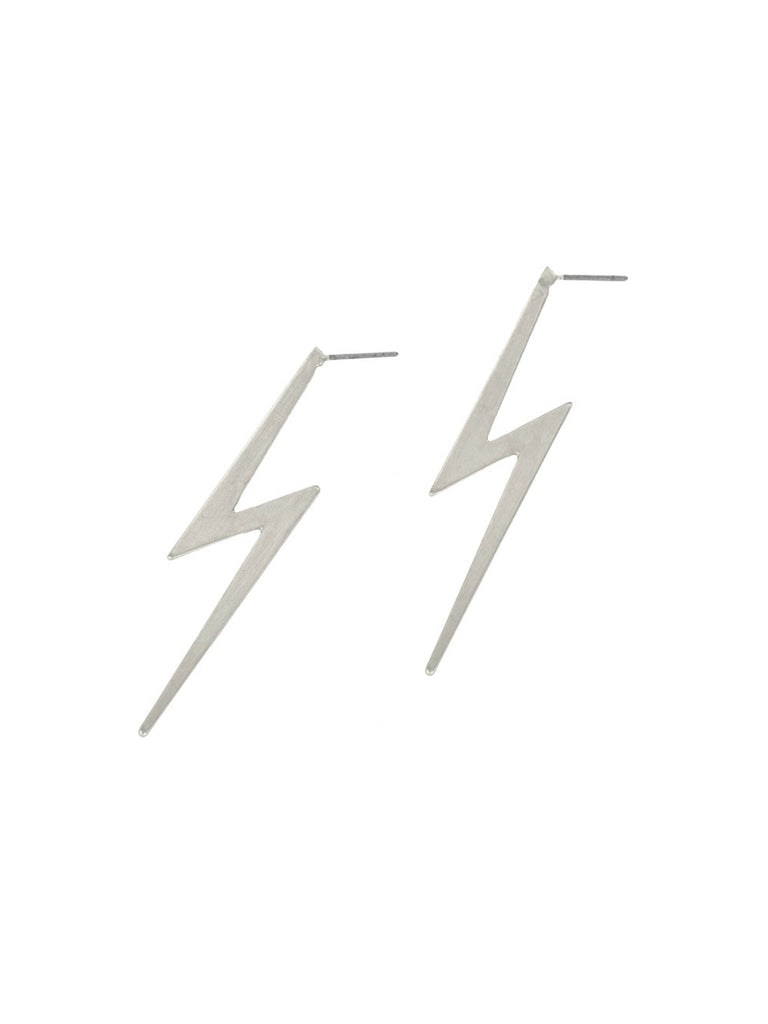 CZ Lightning Bolt Posts | Gold Plated Studs | Light Years Jewelry