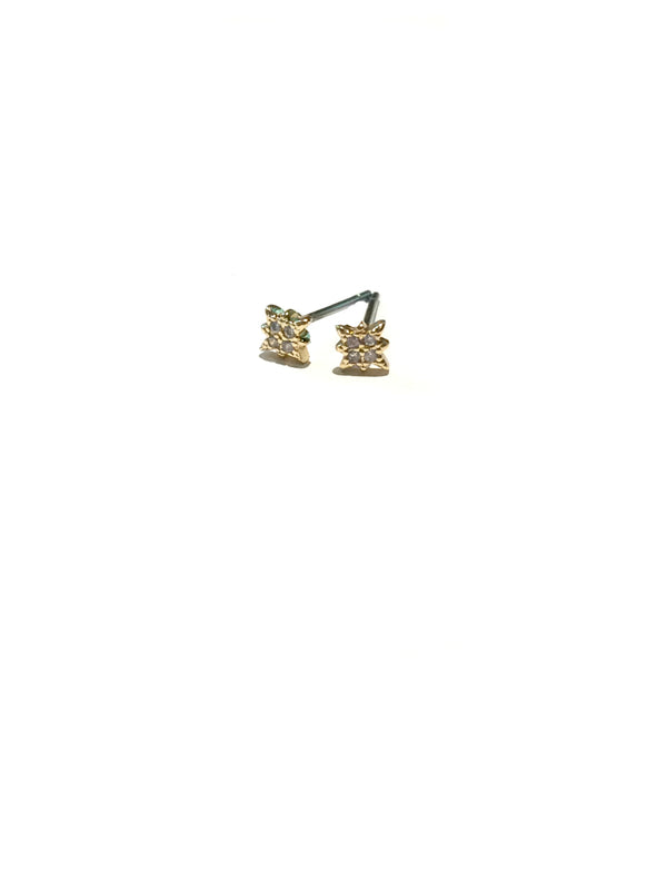 CZ Twinkle Star Posts | Gold Celestial Studs Earrings | Light Years