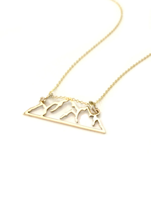 Gold Mountain Range Necklace | Vermeil Chain Pendant | Light Years