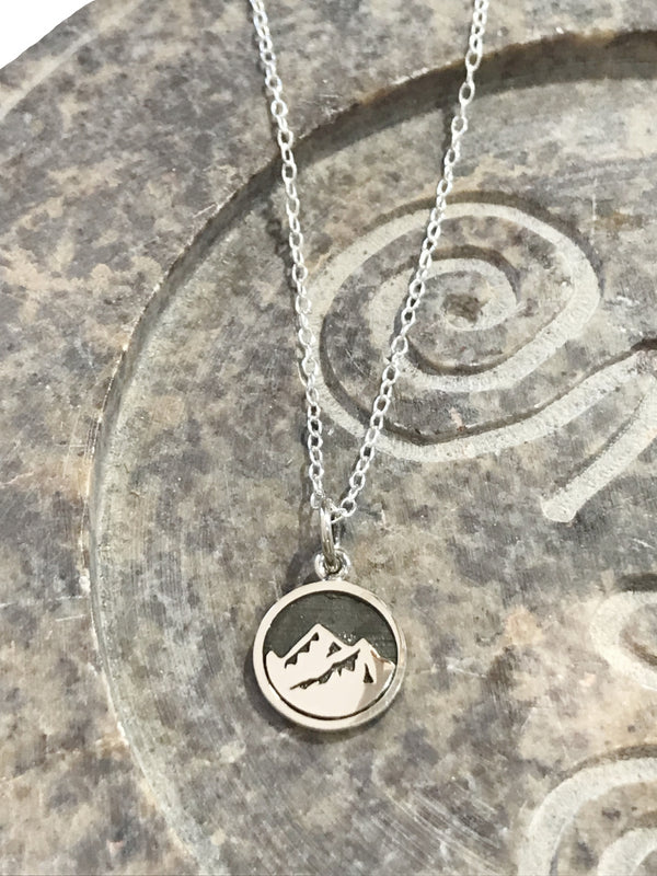 Mountain Element Necklace | Sterling Silver Chain Necklace | Light Years