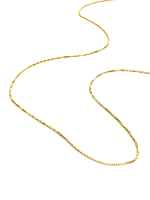 "14k Gold Vermeil Box Chain | Necklace Pendant 16"" 18"" 