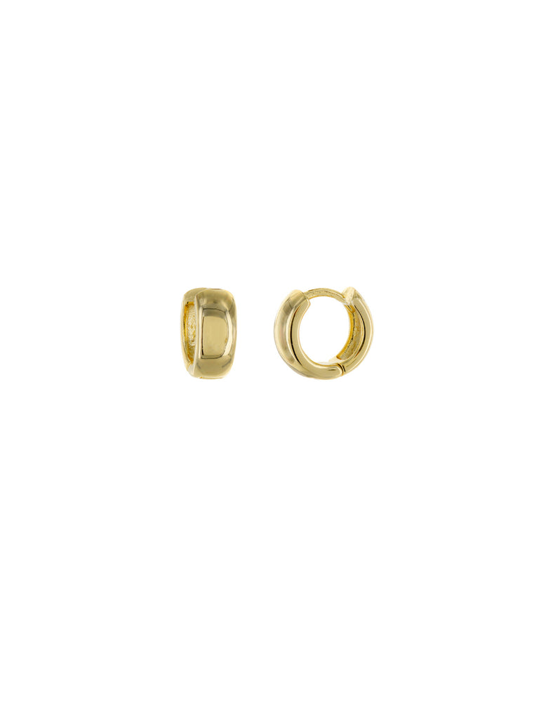 9mm Small Huggie Hoops | Gold Plated Earrings | Light Years Jewelry