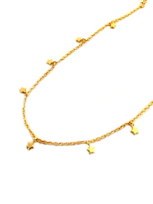 Star Charm Anklet | Gold Plated Chain Bracelet | Light Years Jewelry