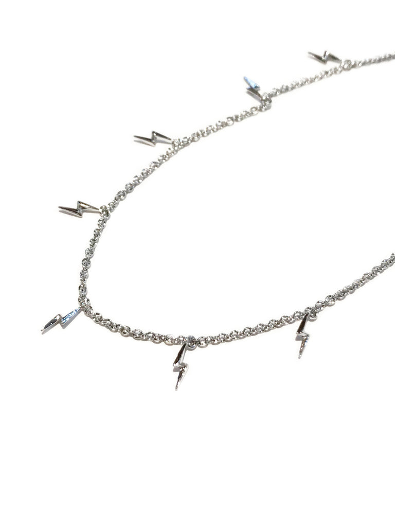 Lightning Bolt Charm Anklet | Silver Plated Chain Bracelet | Light Years