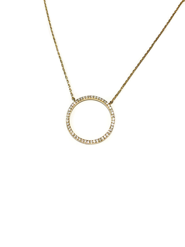 CZ Circle Choker Necklace | Gold Silver Plated | Light Years Jewelry