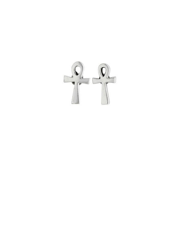 Ankh Posts | Sterling Silver Stud Earrings | Light Years Jewelry