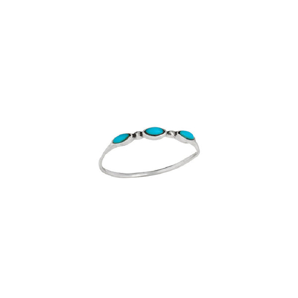 Triple Marquis Turquoise Ring | Sterling Silver Size 8 9 | Light Years