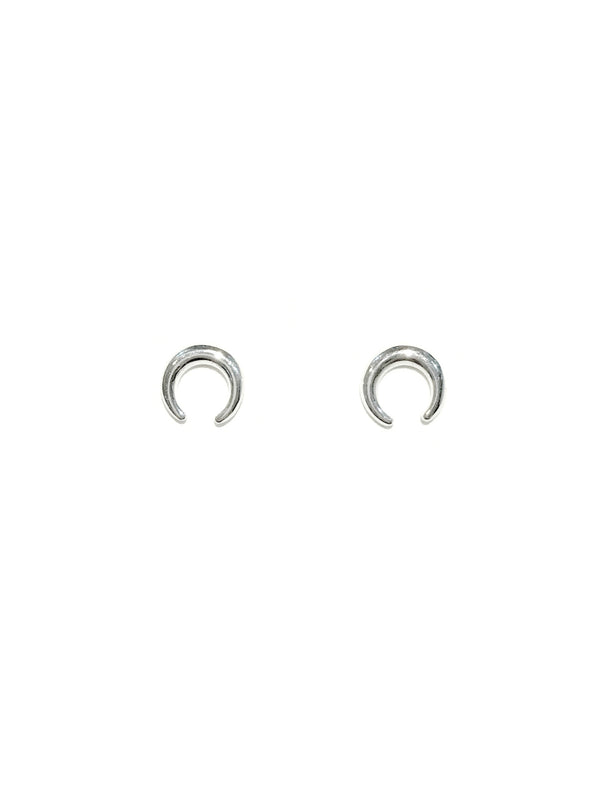 Sleek Crescent Posts | Sterling Silver Studs Earrings | Light Years