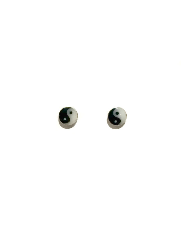 Yin Yang Posts | Sterling Silver Stud Earrings | Light Years Jewelry
