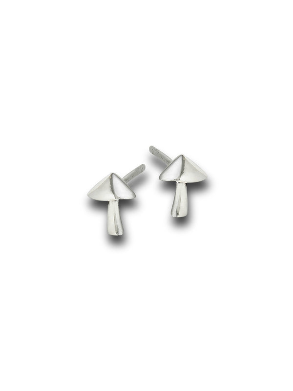 Silver Mushroom Studs | Sterling Silver Posts Earrings | Light Years
