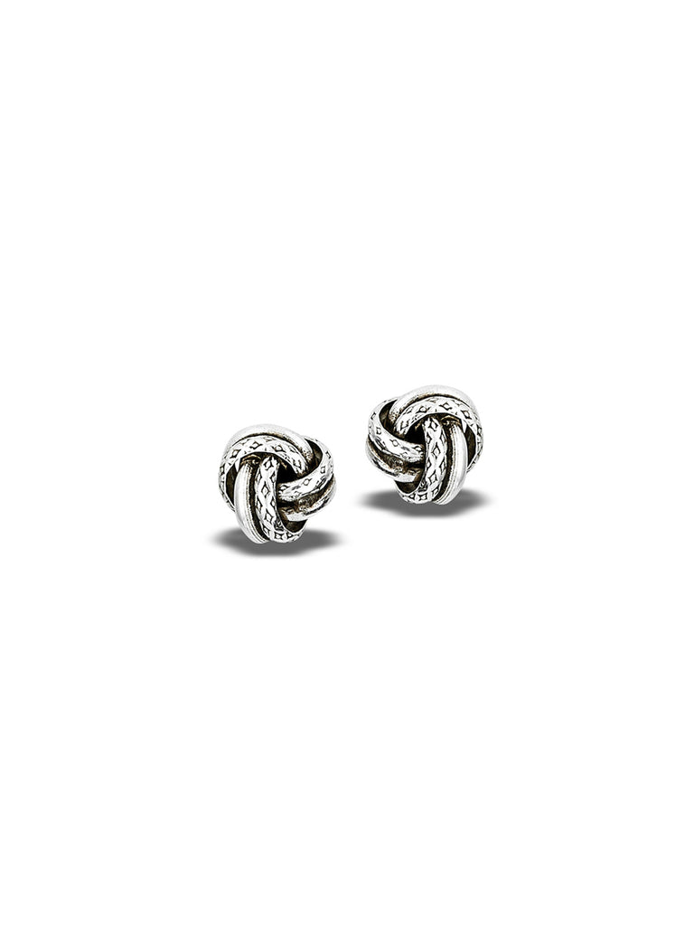 Oxidized Etched Knot Posts | Sterling Silver Studs Earrings | Light Years