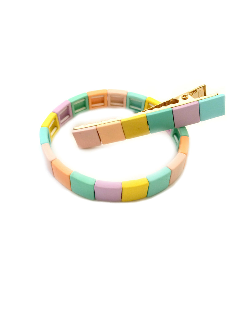 Color Block Barrette | Pastel Hair Clip Accessory | Light Years Jewelry