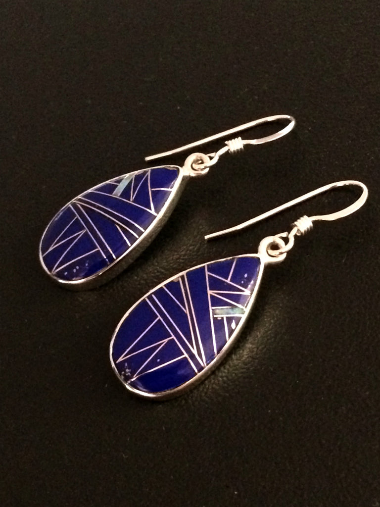 Lapis & Opal Inlay Dangles | Sterling Silver Earrings | Light Years