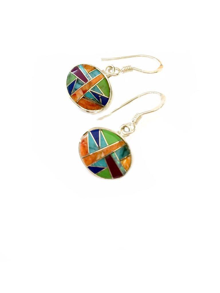 Multistone Inlay Dangles | Sterling Silver Earrings | Light Years