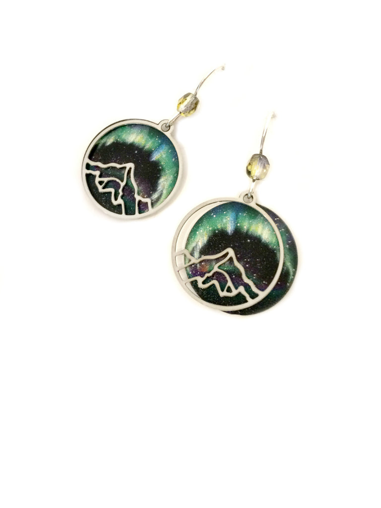 Aurora Borealis Dangles Adajio | Sterling Silver Mountain | Light Years
