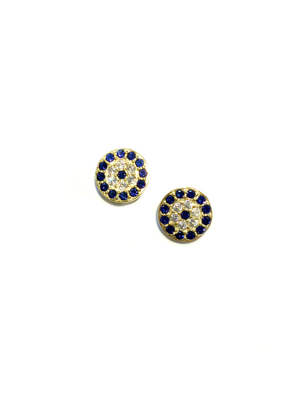 CZ Eye Posts | Sterling Silver Gold Vermeil Studs Earrings | Light Years