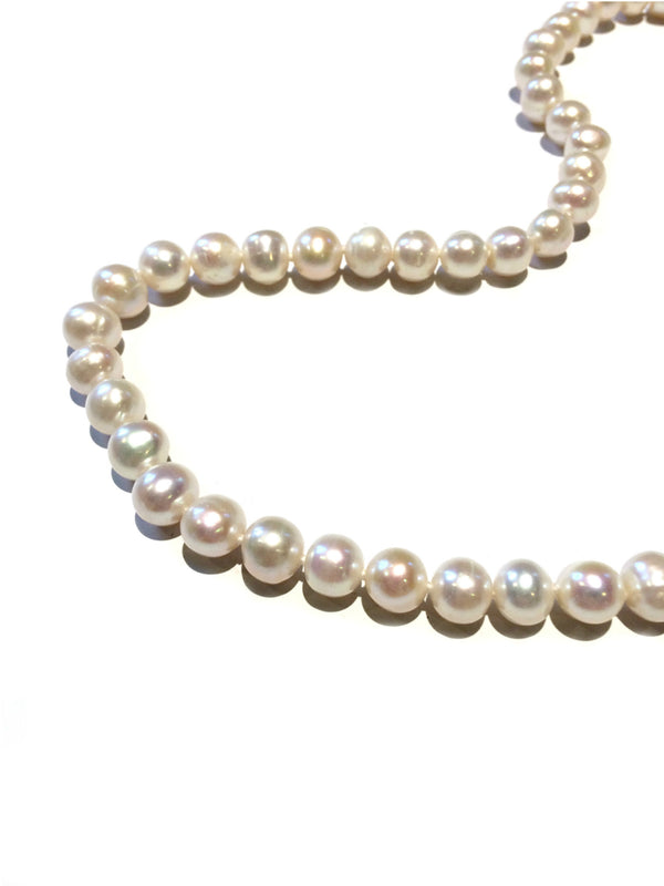 Classic Pearl Necklace | Silver Strand Freshwater | Light Years Jewelry