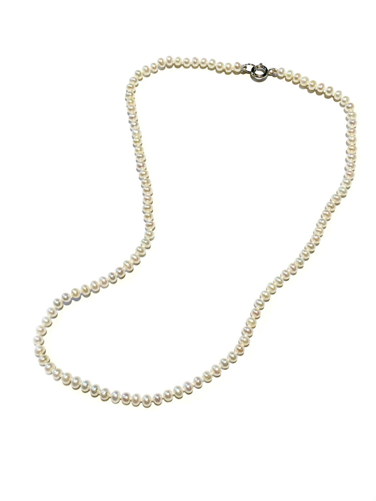 Freshwater Pearl Necklace | Sterling Silver Clasp | Light Years Jewelry