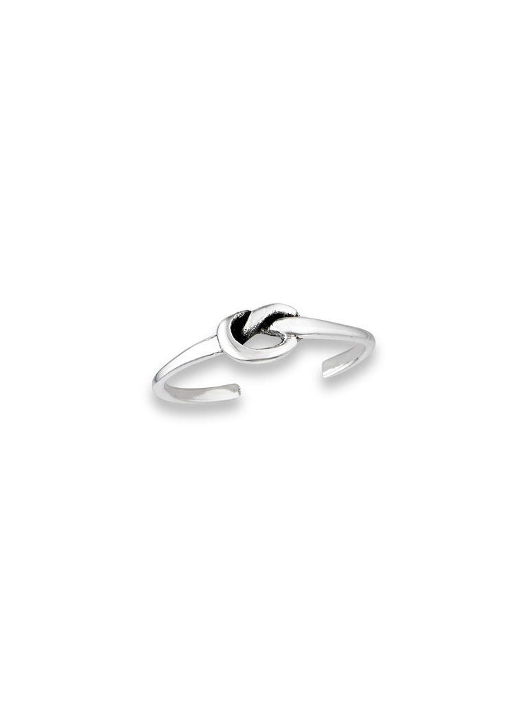 Love Knot Toe Ring | Sterling Silver Adjustable | Light Years Jewelry