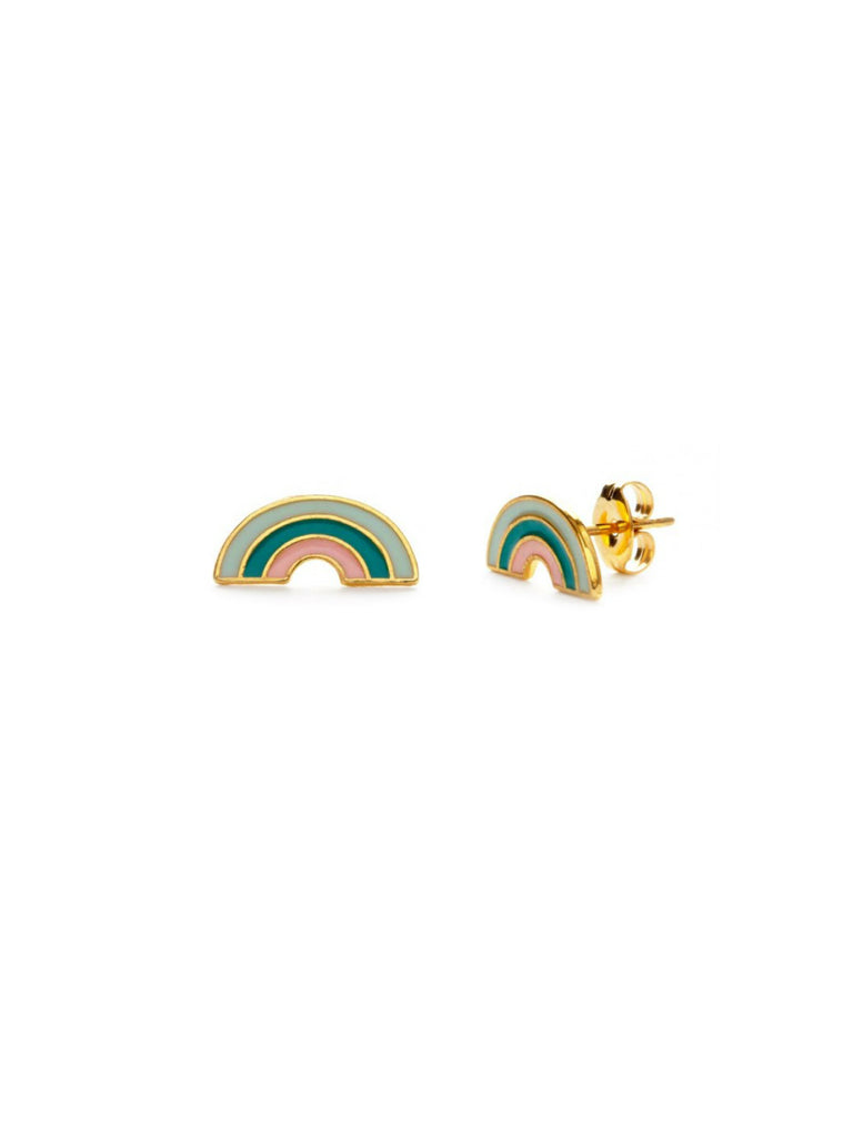 Retro Enamel Rainbow Posts | Handmade Amano Studs Earrings | Light Years