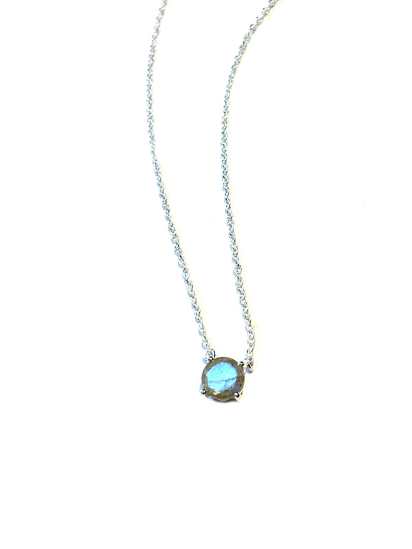 Cut Gemstone Necklace | Labradorite | Sterling Silver Chain Pendant | Light Years
