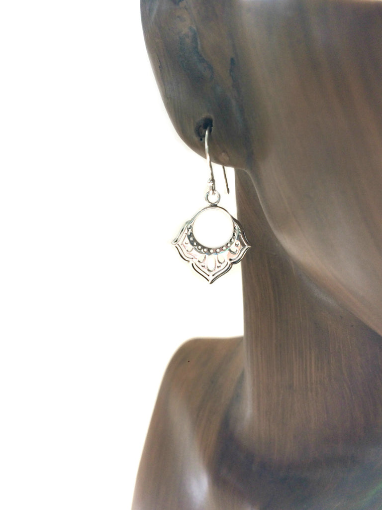 Boho Cutout Dangles | Sterling Silver Drop Earrings | Light Years