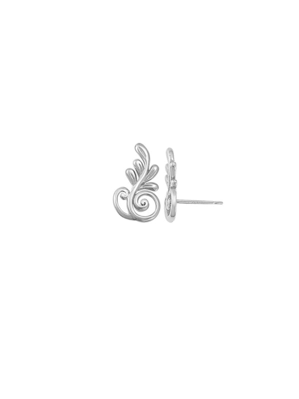 Fanciful Swirl Posts | Sterling Silver Studs Earrings | Light Years